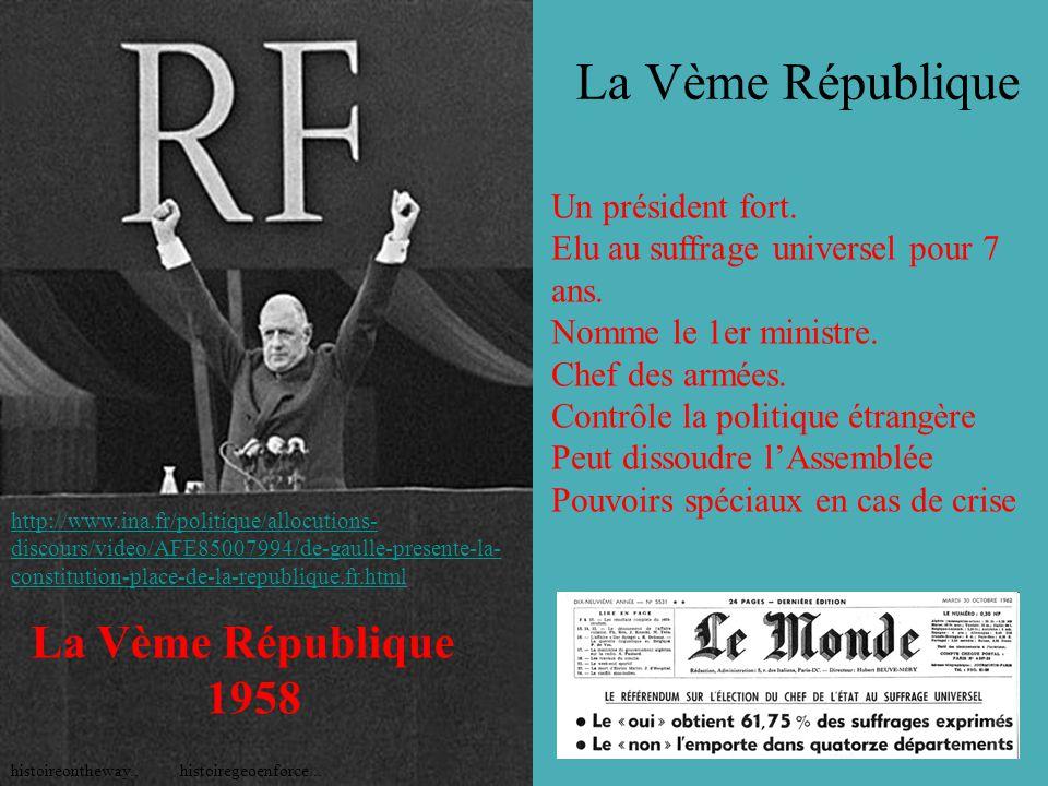 La Vème République histoiregeoenforce...histoireontheway..