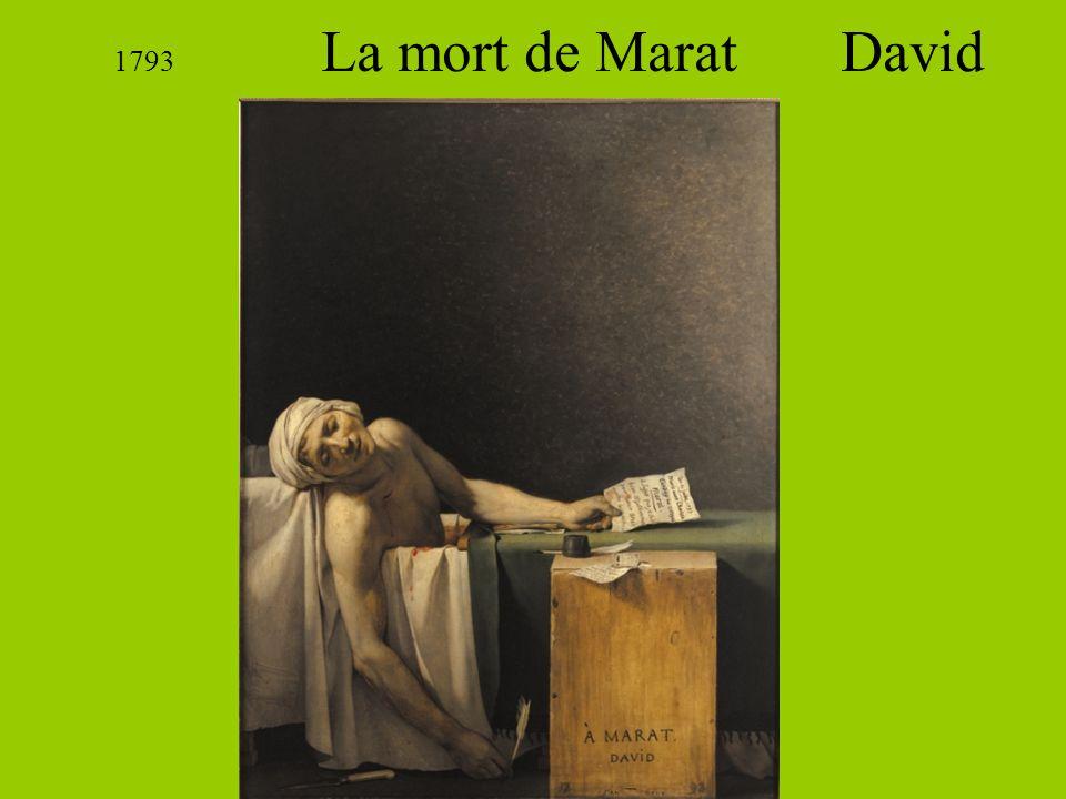 1793 La mort de Marat David