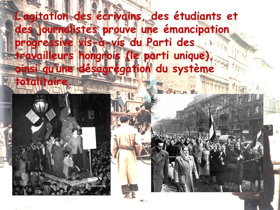 Le 23 octobre 1956 Insurrection de Budapest Le mouvement hongrois d'octobre 1956 était une insurrection, voire une révolution.