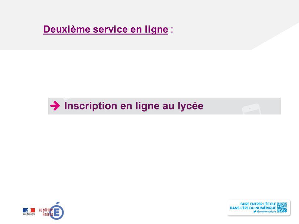 Titre de la présentation - Vendredi 12 juillet 2013 - Page ‹#› Deuxième service en ligne :