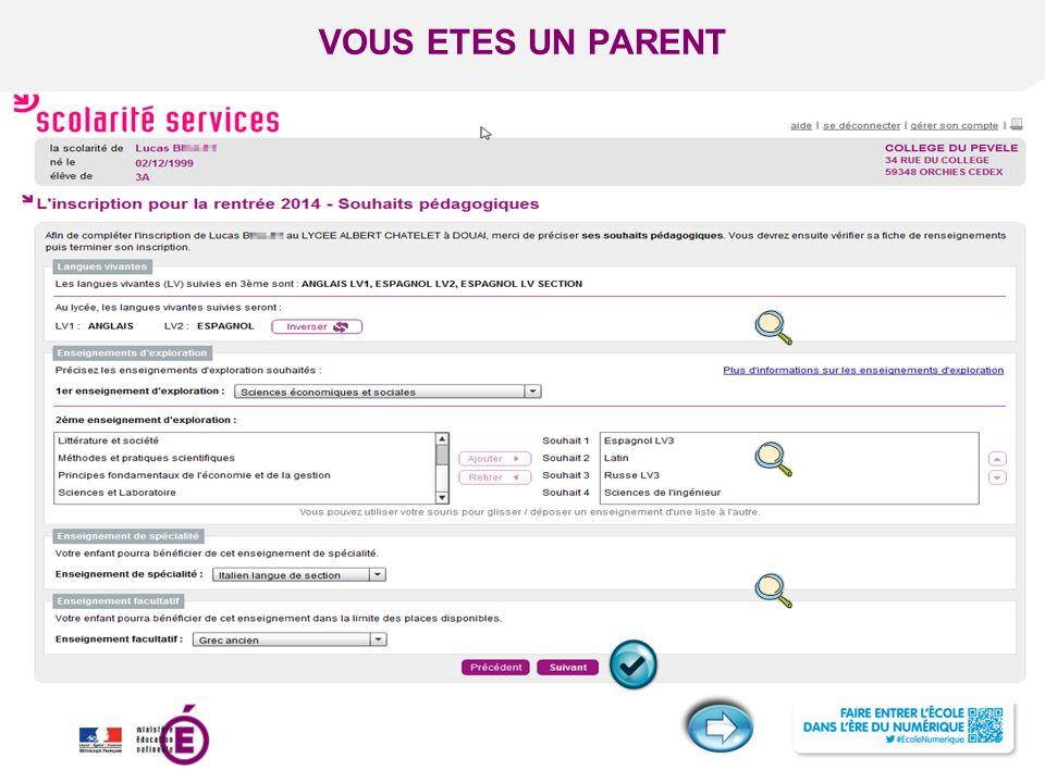 Titre de la présentation - Vendredi 12 juillet 2013 - Page ‹#› VOUS ETES UN PARENT Acceptation de l'affectation par le responsable