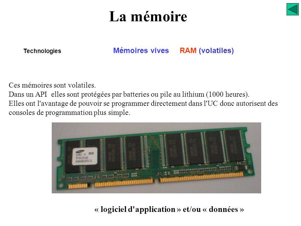 La mémoire Technologies -FLASH EPROM La mémoire Flash s'apparente à la technologie de l'EEPROM. Elle est programmable et effaçable électriquement comm