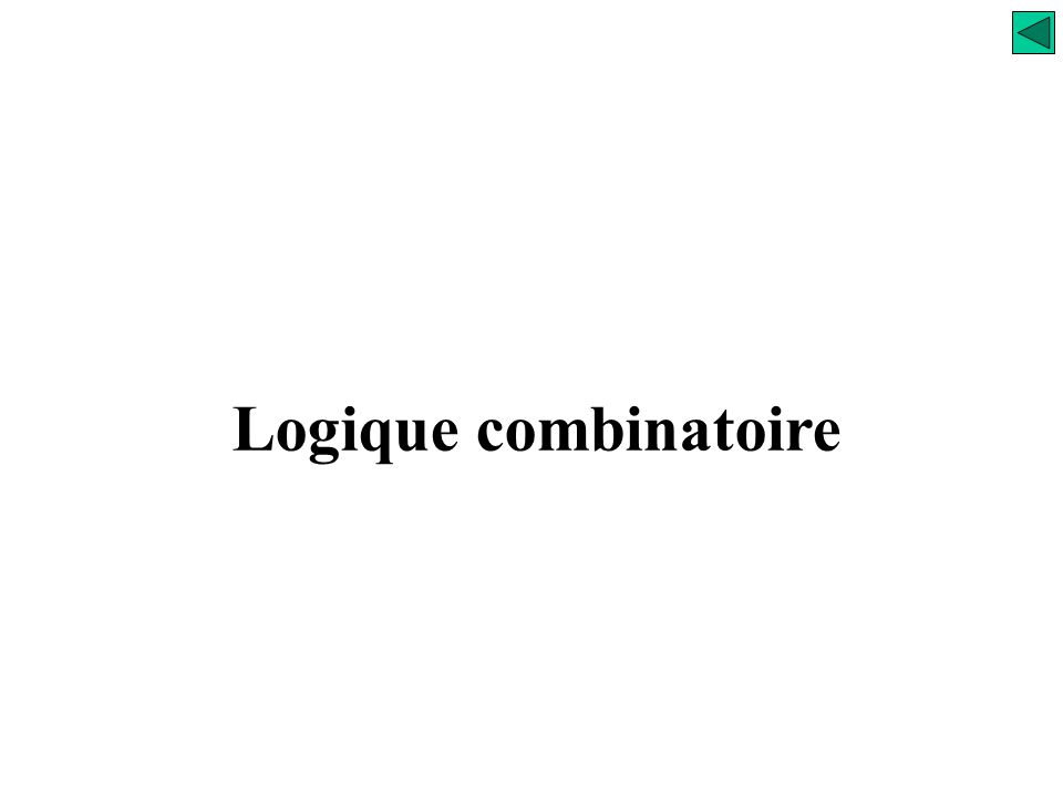 Analyse S (A=B) = ? Comparaison entre Informations Comparateur arithmétique S (A=B) S (A>B) S (A<B)
