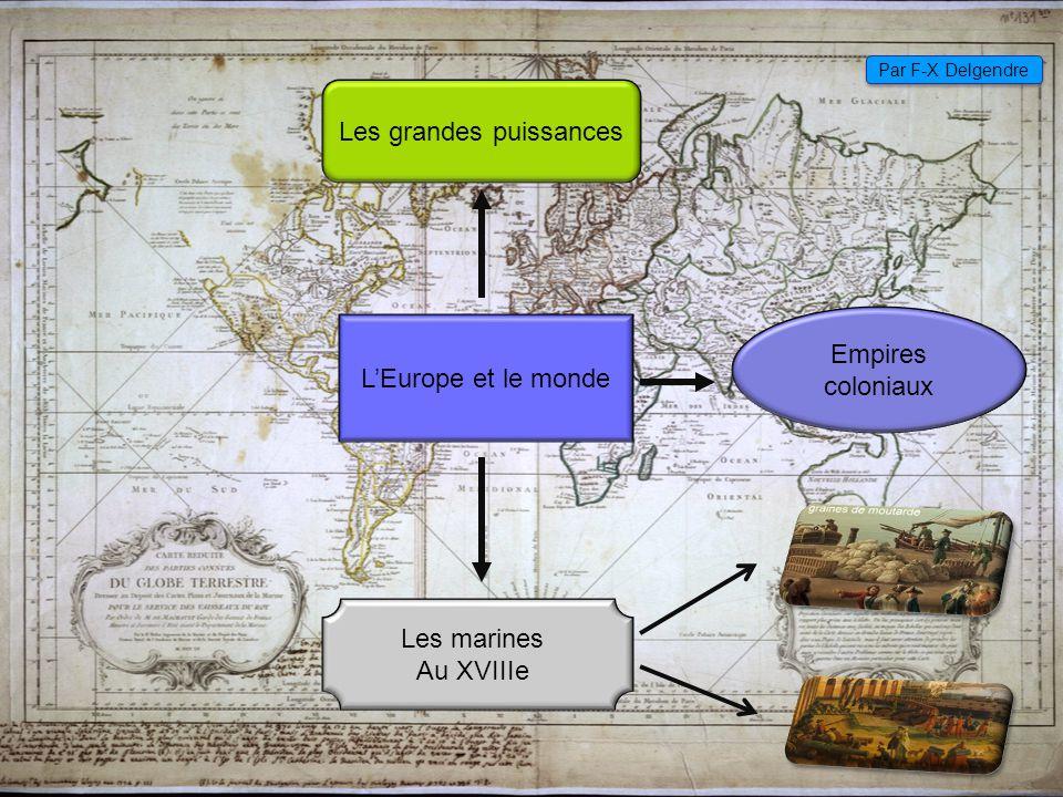 Les grandes puissances européennes Au XVIIIe S l'Europe est déjà très puissante Les principaux royaumes sont :principaux royaumes Le royaume de France : le plus peuplé et le plus riche, encerclé par ses voisins mais qui voudrait conquérir un empire colonial, principalement en Amérique.