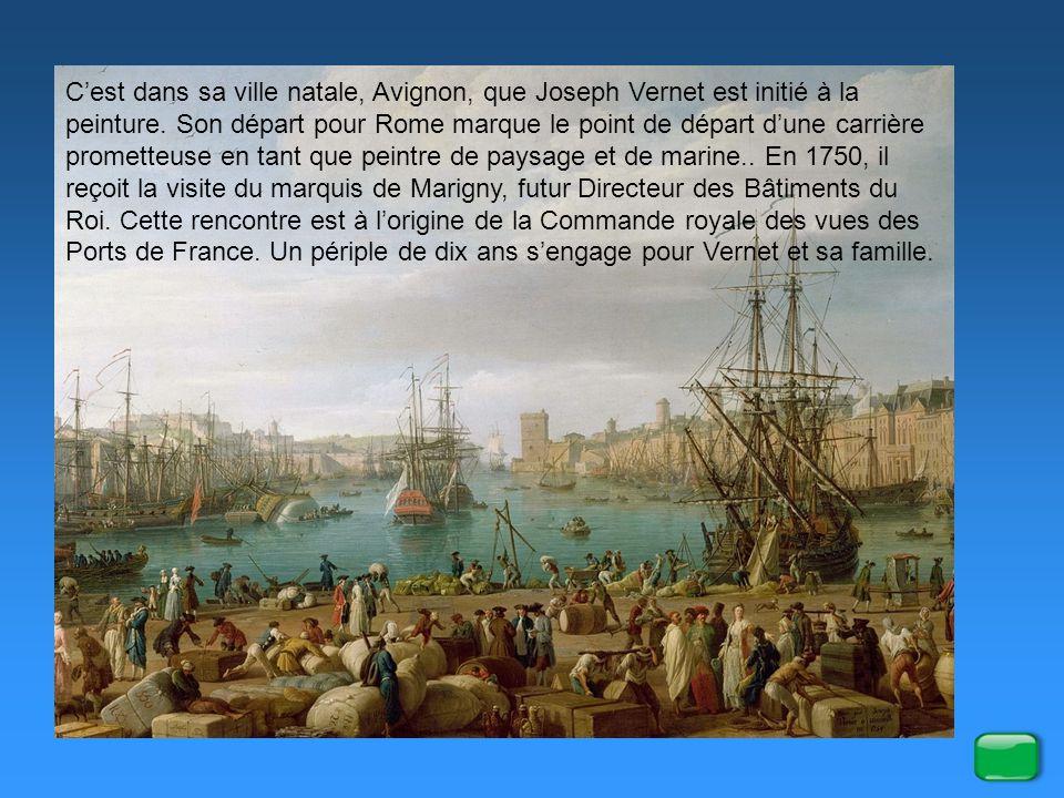 Toulon, magasin aux vivres par Vernet, 1756