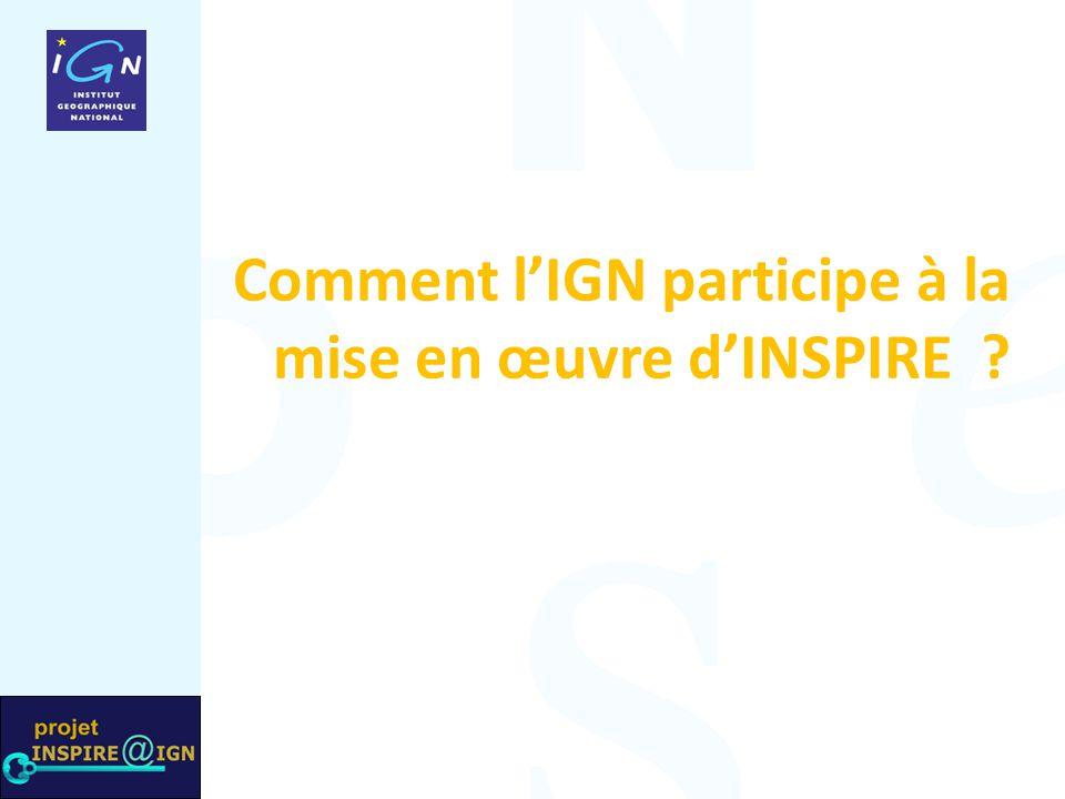 Comment l'IGN participe à la mise en œuvre d'INSPIRE ?