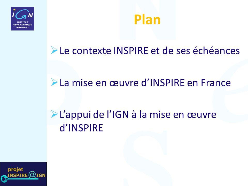 Comment la France s'organise-t-elle pour mettre en œuvre la directive INSPIRE .