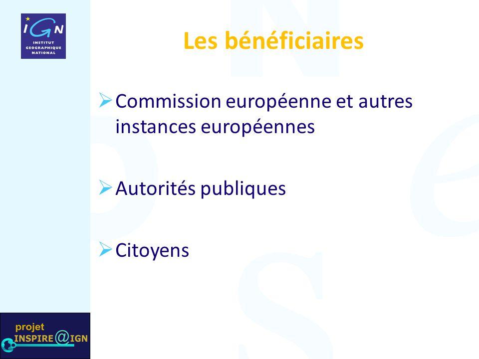 Les bénéficiaires  Commission européenne et autres instances européennes  Autorités publiques  Citoyens