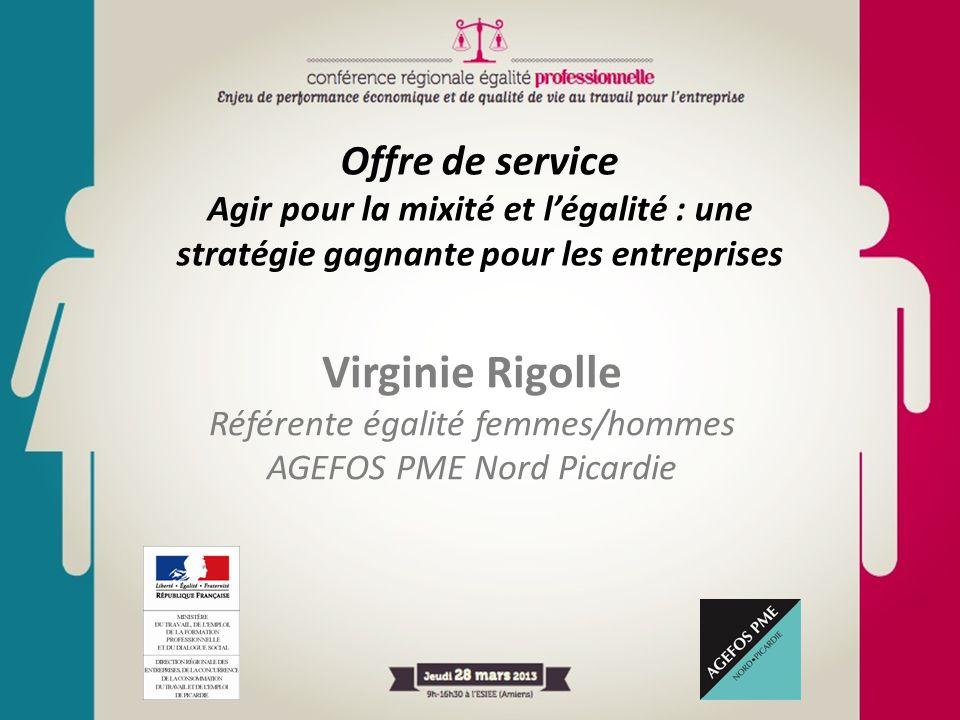 Offre de service Agir pour la mixité et l'égalité : une stratégie gagnante pour les entreprises Virginie Rigolle Référente égalité femmes/hommes AGEFO