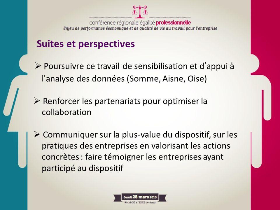 Suites et perspectives  Poursuivre ce travail de sensibilisation et d'appui à l'analyse des données (Somme, Aisne, Oise)  Renforcer les partenariats