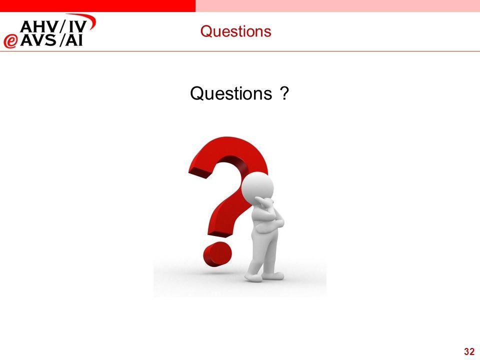 32 Questions Questions ?