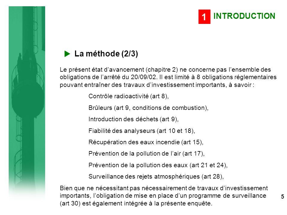 Evolution des UIOM concernées en 2003 par des travaux Emissions en Dioxines Panel : 42 UIOM identifiées en 2003 devant réaliser des travaux et enquêtées en 2005 86 ETAT D'AVANCEMENT DETAILLE DE LA MISE EN CONFORMITE 5 Prévention de la pollution de l'air