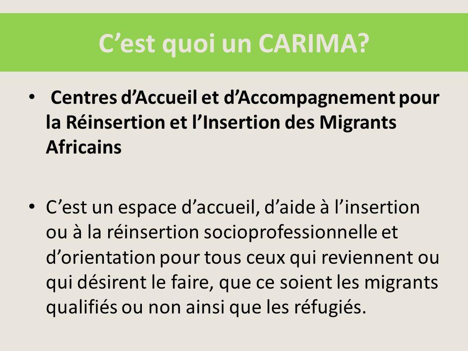 I.Informer et communiquer sur le projet, sur les CARIMA et sur les enjeux de la migration et le développement 1.1.