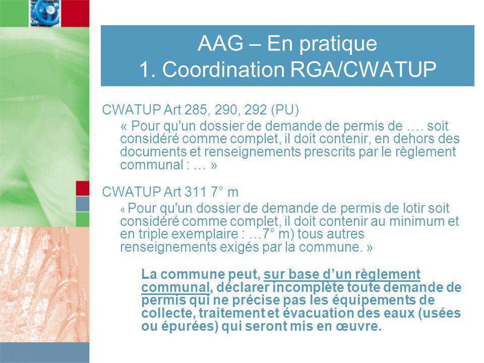 AAG – En pratique 1.