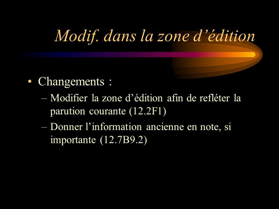 Zone 3 Zone de la numérotation : ne s'applique pas en général aux ressources intégratrices (12.3A1 b) Utiliser la règle.3 des autres chap.