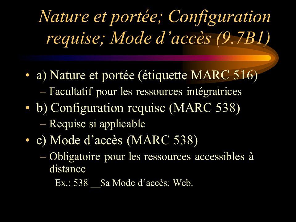 Langue (12.9B2) On indique en note la ou les langue(s) de la ressources, à moins que ce ne soit explicite dans le reste de la description.