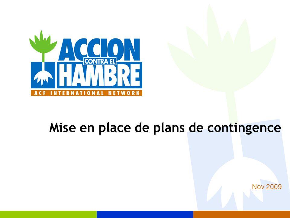 12 Plan de contingence Réponse Rétablissement Reconstruction Prevention Atténuation Préparation DESASTRE I.9 Plan de contingence dans le cycle de réduction des risques