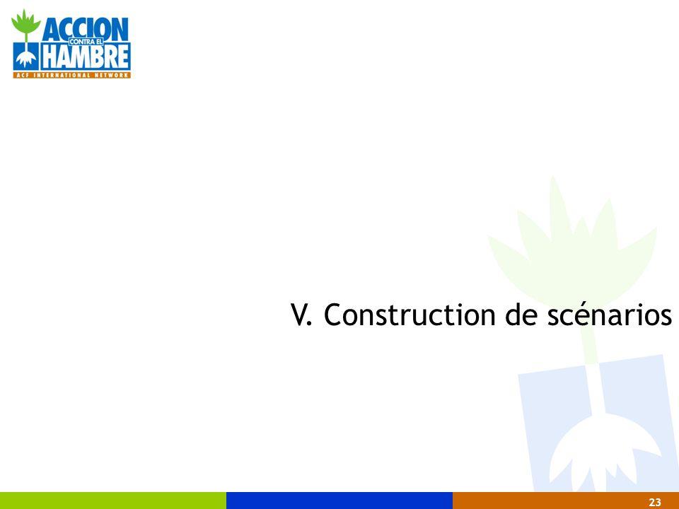 23 V. Construction de scénarios