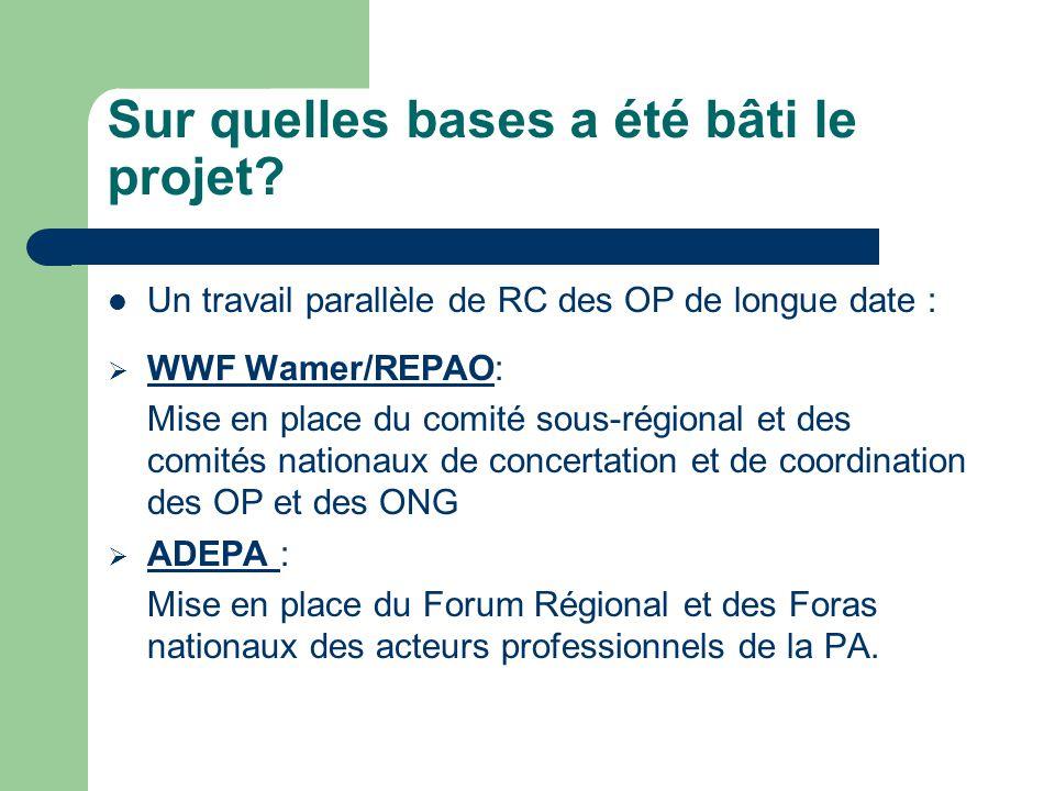 Résultats et impacts du projet (2)  Au niveau du WWF Wamer, du REPAO et de l'ADEPA.