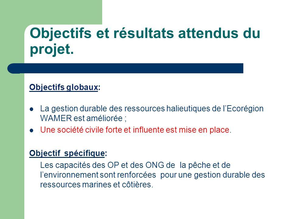 Objectifs et résultats attendus du projet.