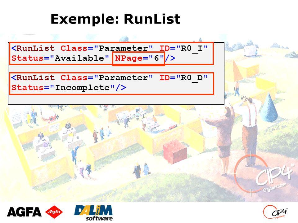 Exemple: RunList
