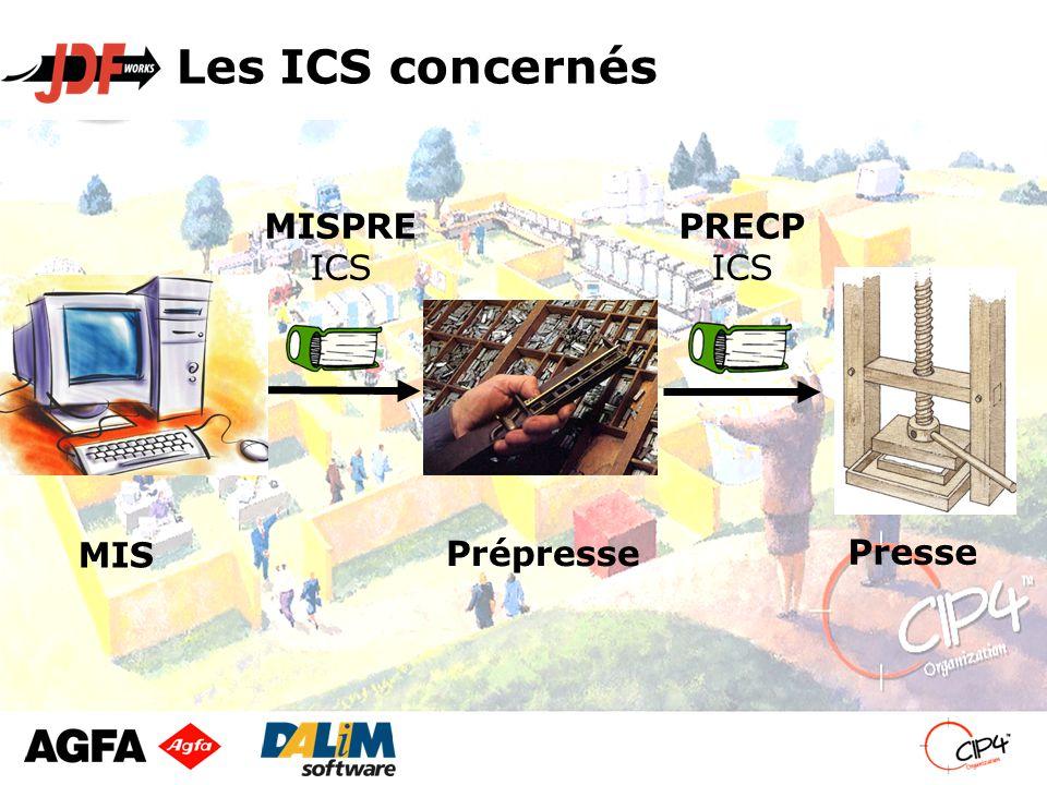 Les ICS concernés PRECP ICS MISPRE ICS MIS Presse Prépresse