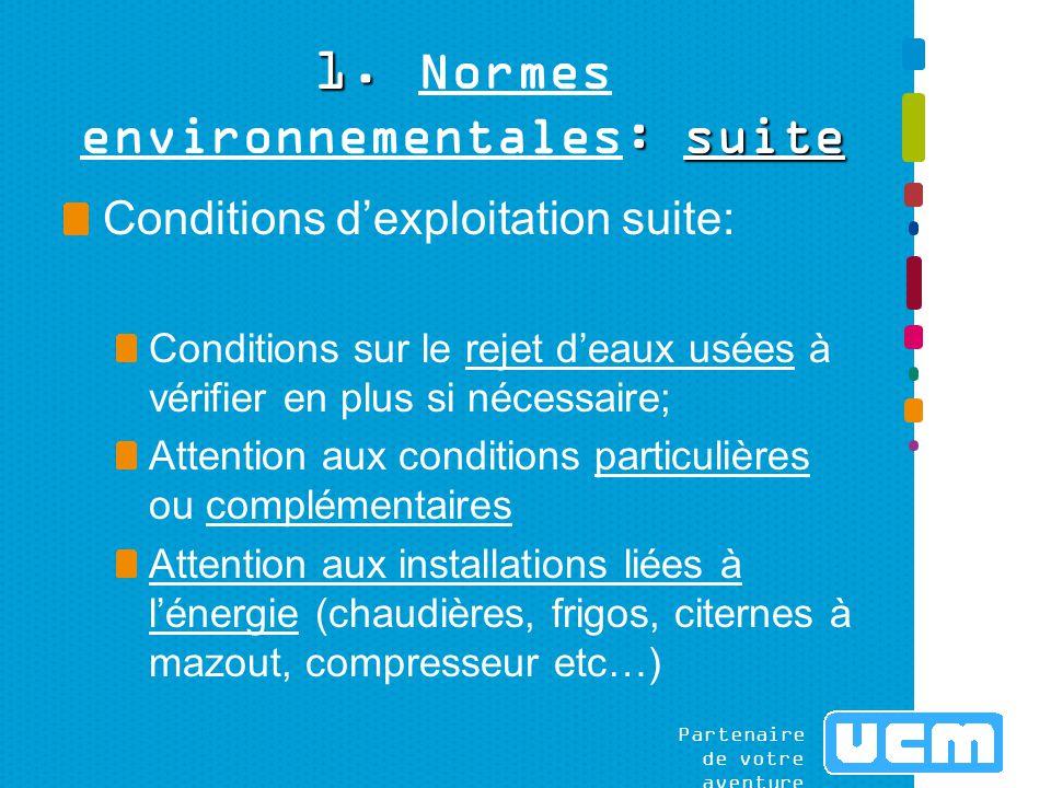 Partenaire de votre aventure www.ucm.be/environnement