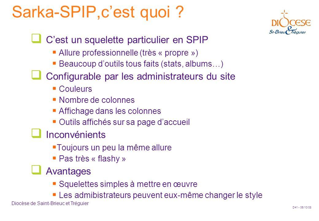 D41 - 06/10/08 Diocèse de Saint-Brieuc et Tréguier Sarka-SPIP,c'est quoi .