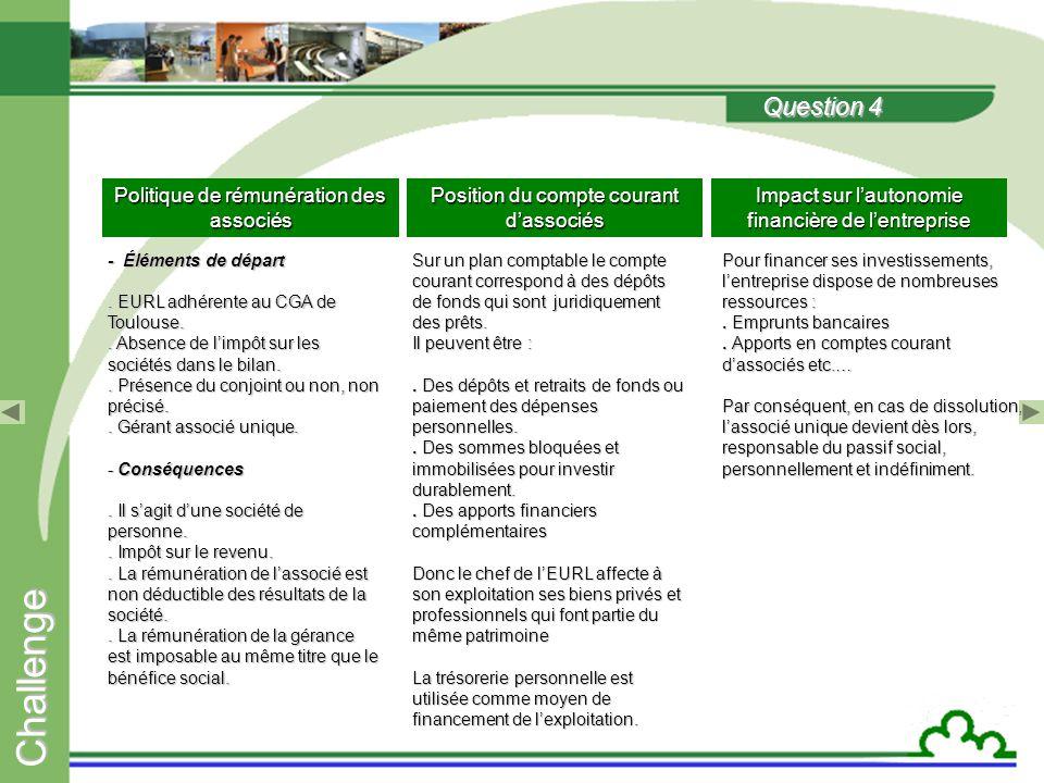 C h a l l e n g e Question 14 Axes stratégiques de développement