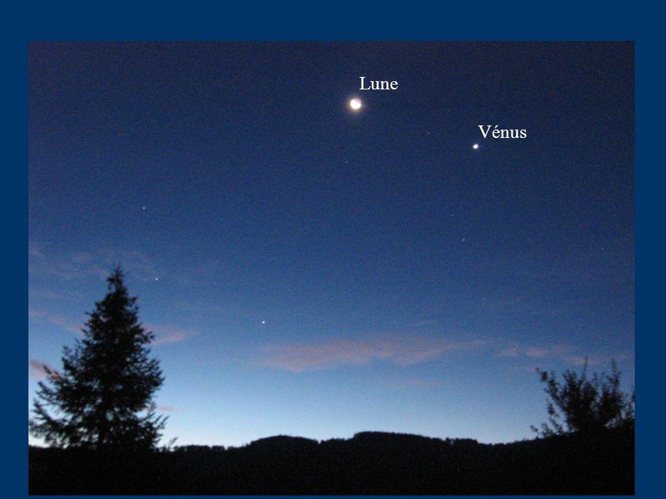Club d Astronomie Lycée Saint Exupéry Lyon Pour Vénus il existe un autre cas de conjonction avec le Soleil « Conjonction supérieure » de Vénus Observée depuis la Terre Vénus est alors cachée par le Soleil Là encore les terriens ne peuvent la voir