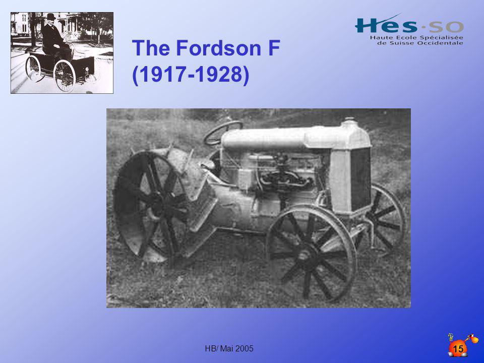 HB/ Mai 2005 14 1917 Fordson modèle T