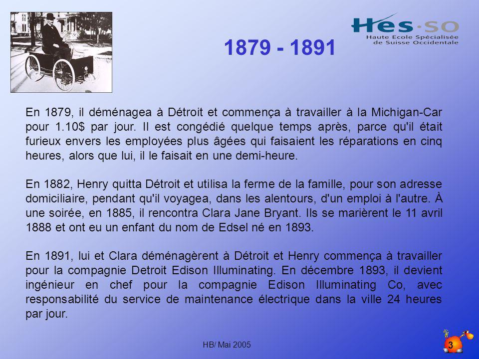 2 Henry Ford (1863-1947) Henry Ford naît le 30 juillet 1863 au Michigan, dans la ville qu on appelle maintenant Dearborn.