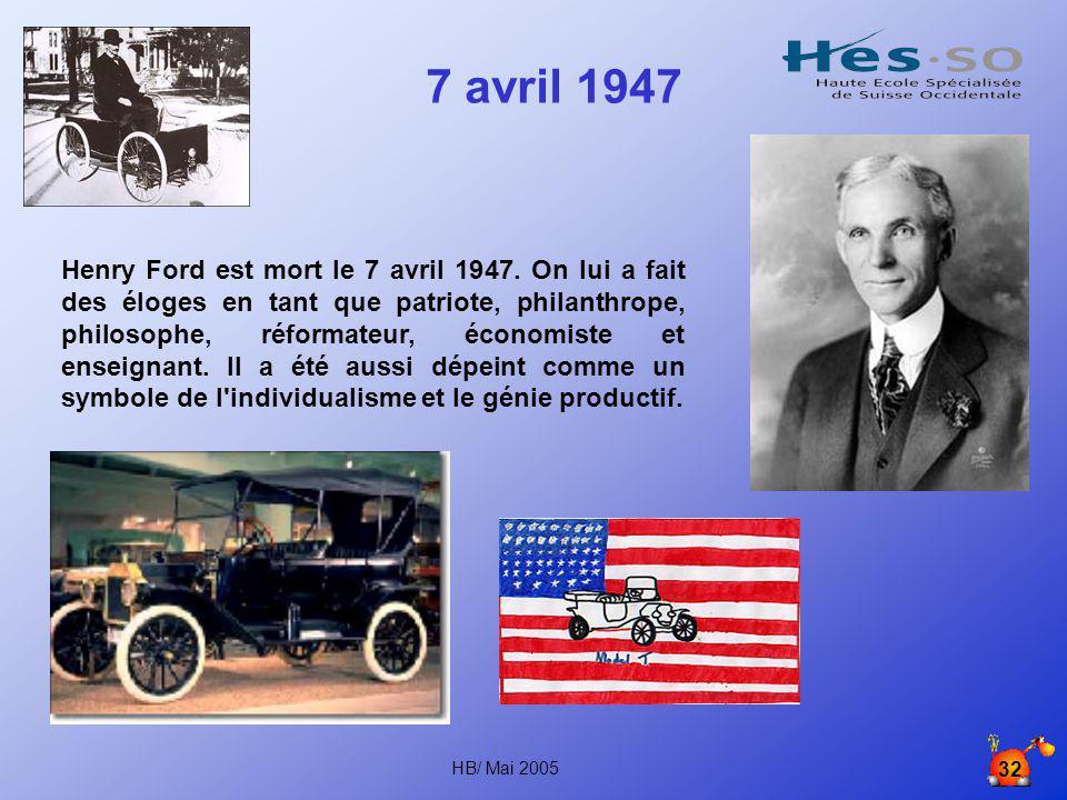 HB/ Mai 2005 31 Modèle N Année 1946 (plan Marshall)