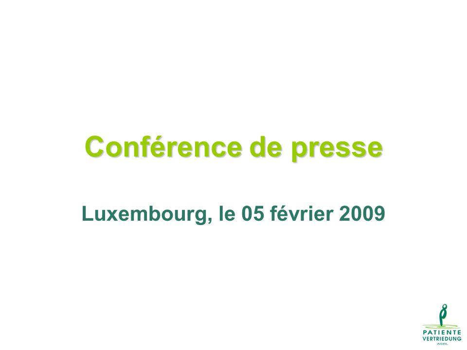 Conférence de presse Luxembourg, le 05 février 2009