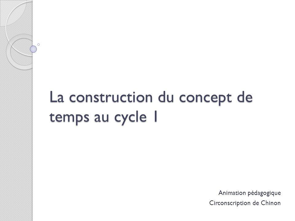 Animation pédagogique Circonscription de Chinon La construction du concept de temps au cycle 1