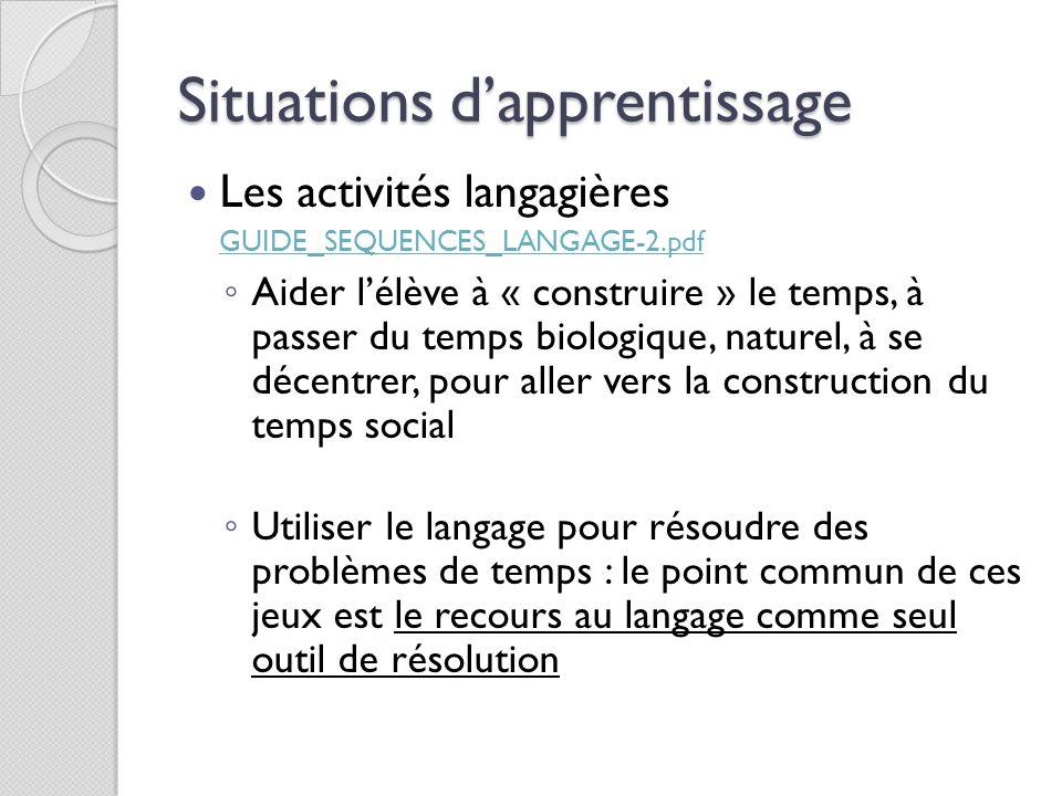 Situations d'apprentissage Les activités langagières GUIDE_SEQUENCES_LANGAGE-2.pdf GUIDE_SEQUENCES_LANGAGE-2.pdf ◦ Aider l'élève à « construire » le t