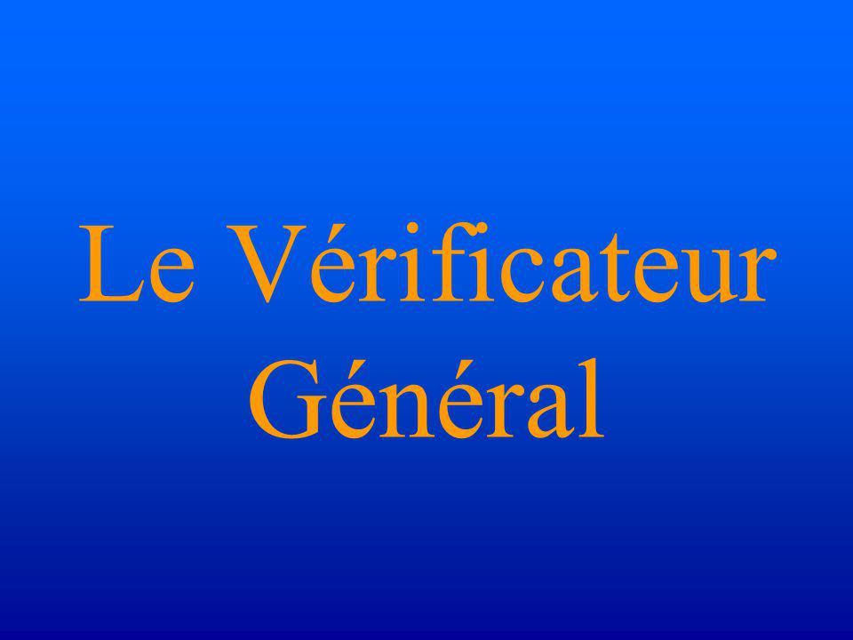 Le Vérificateur Général