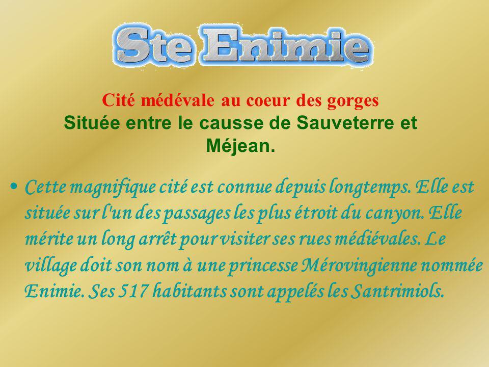 Cité médévale au coeur des gorges Située entre le causse de Sauveterre et Méjean.