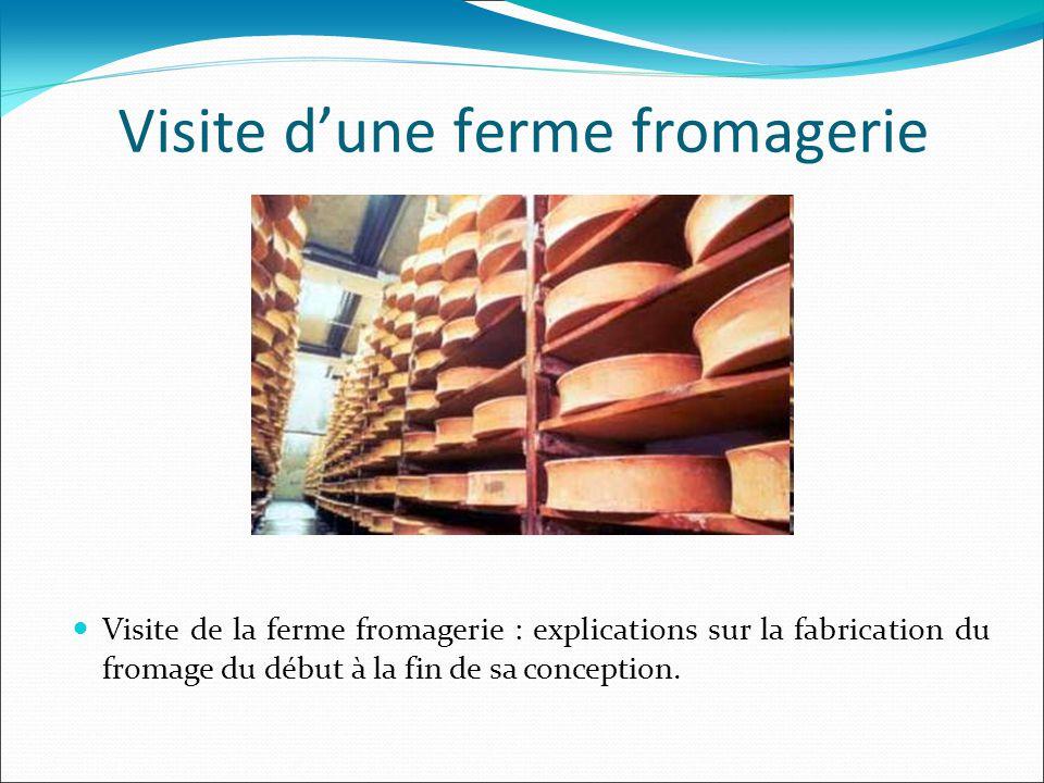 Visite d'une ferme fromagerie Visite de la ferme fromagerie : explications sur la fabrication du fromage du début à la fin de sa conception.