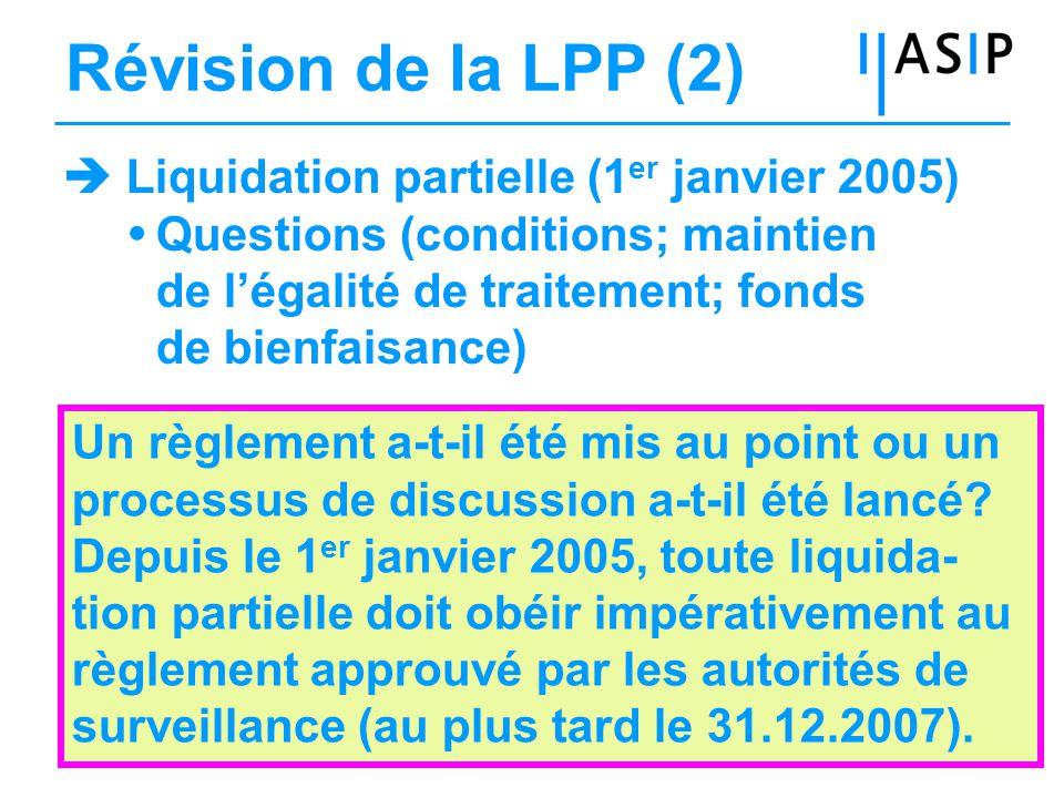 18HK, 09.01.2006 Direction Experts / organe de révision Conseil de fondation Prévoyance pour les assurés Surveillance Interaction