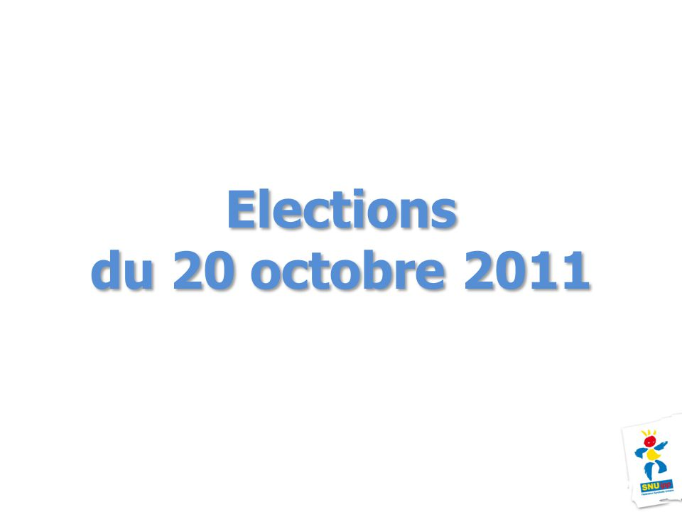 Elections du 20 octobre 2011