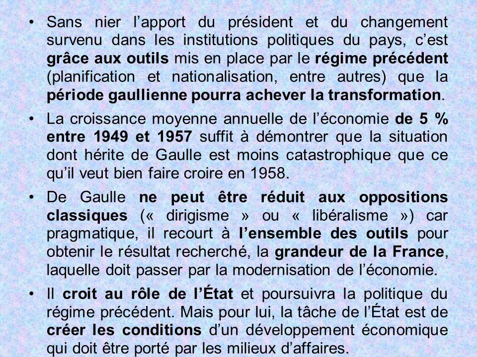 Sans nier l'apport du président et du changement survenu dans les institutions politiques du pays, c'est grâce aux outils mis en place par le régime p