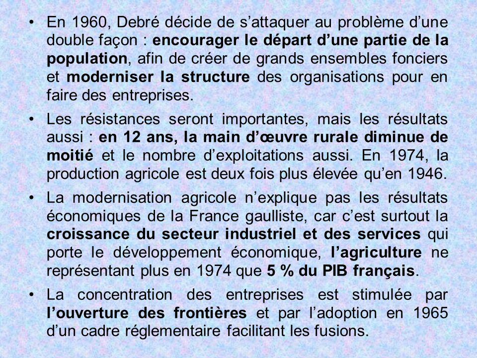 En 1960, Debré décide de s'attaquer au problème d'une double façon : encourager le départ d'une partie de la population, afin de créer de grands ensem