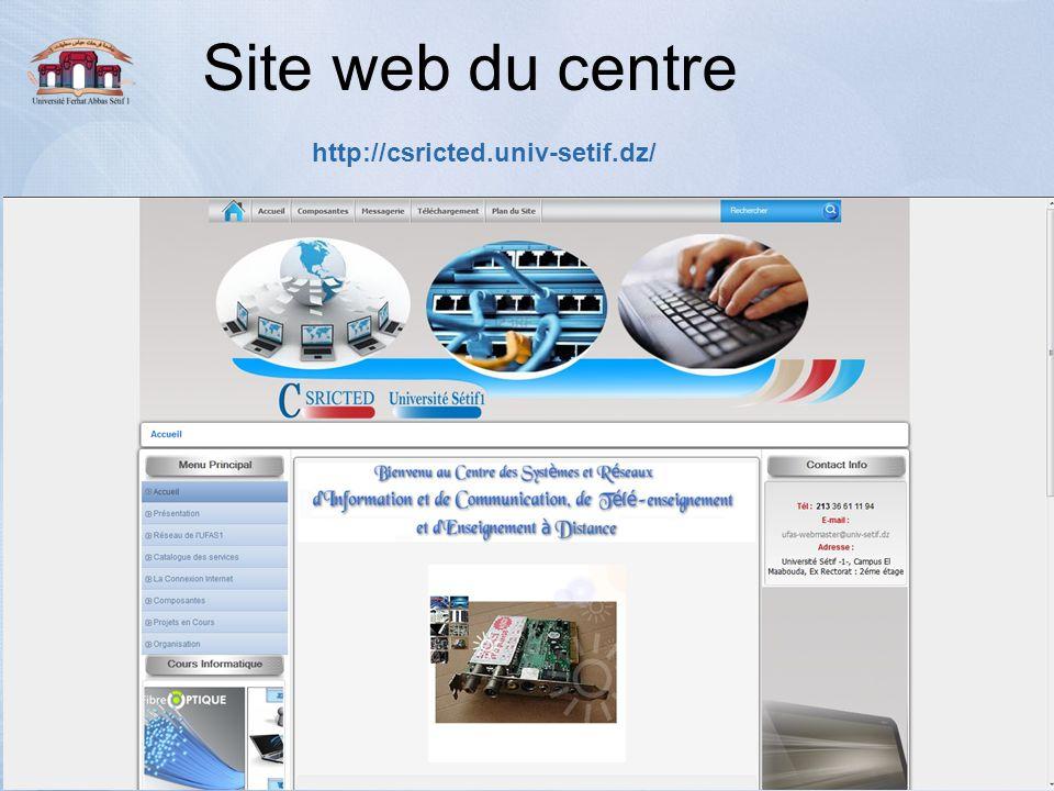 Site web du centre http://csricted.univ-setif.dz/