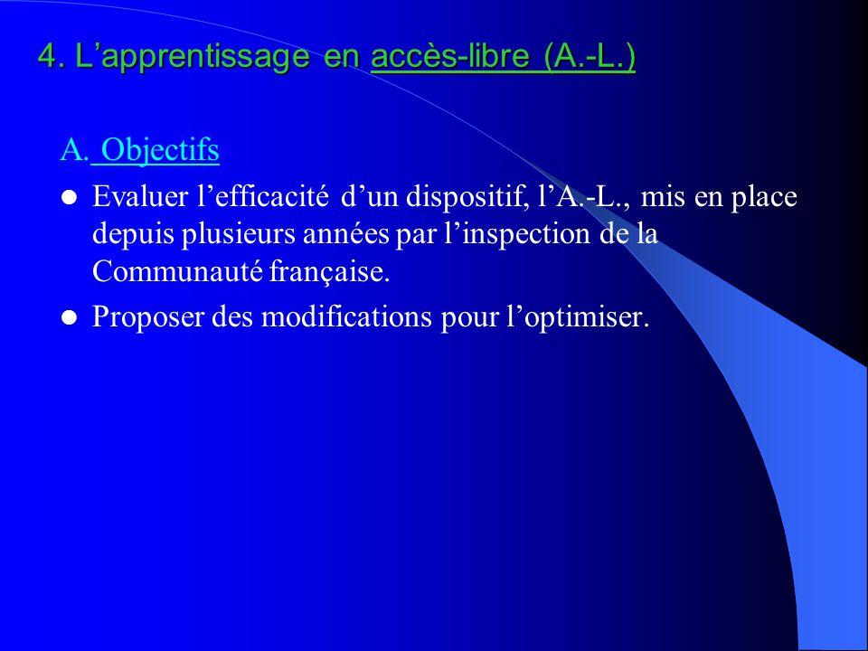 4. L'apprentissage en accès-libre (A.-L.) A.