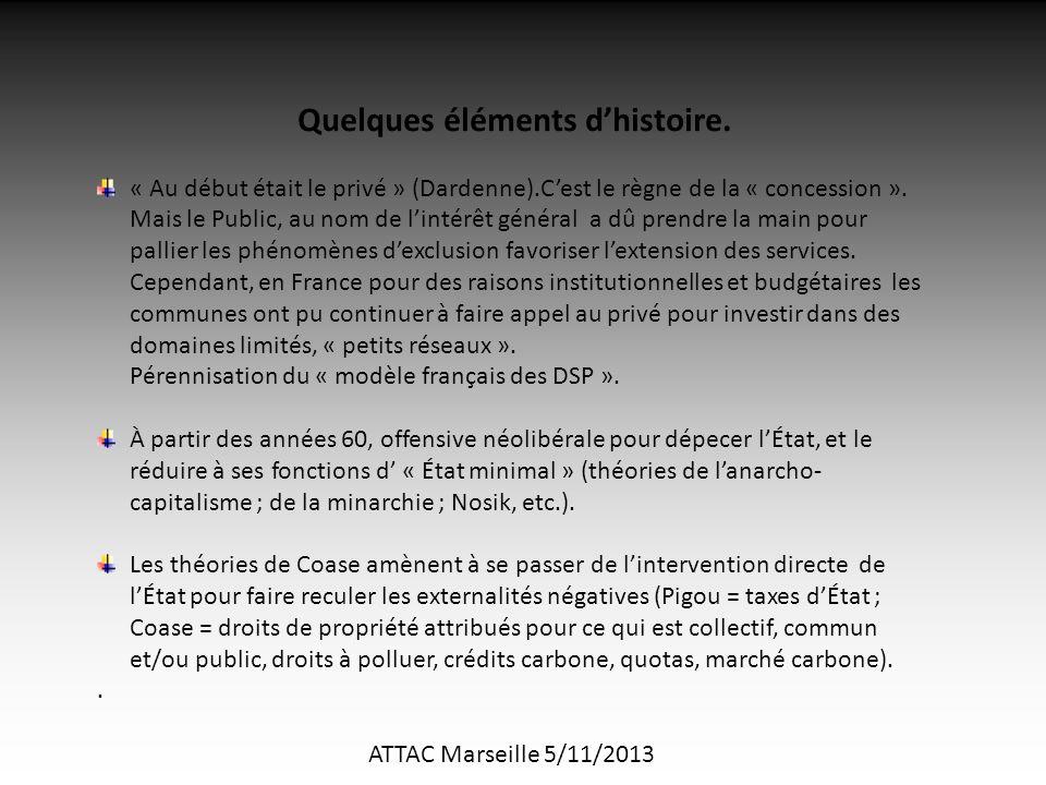ATTAC Marseille 5/11/2013 Quelques éléments d'histoire.