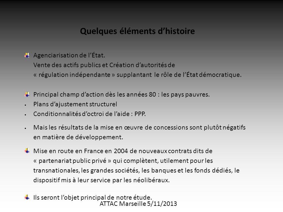 ATTAC Marseille 5/11/2013 Quelques éléments d'histoire Agenciarisation de l'État.
