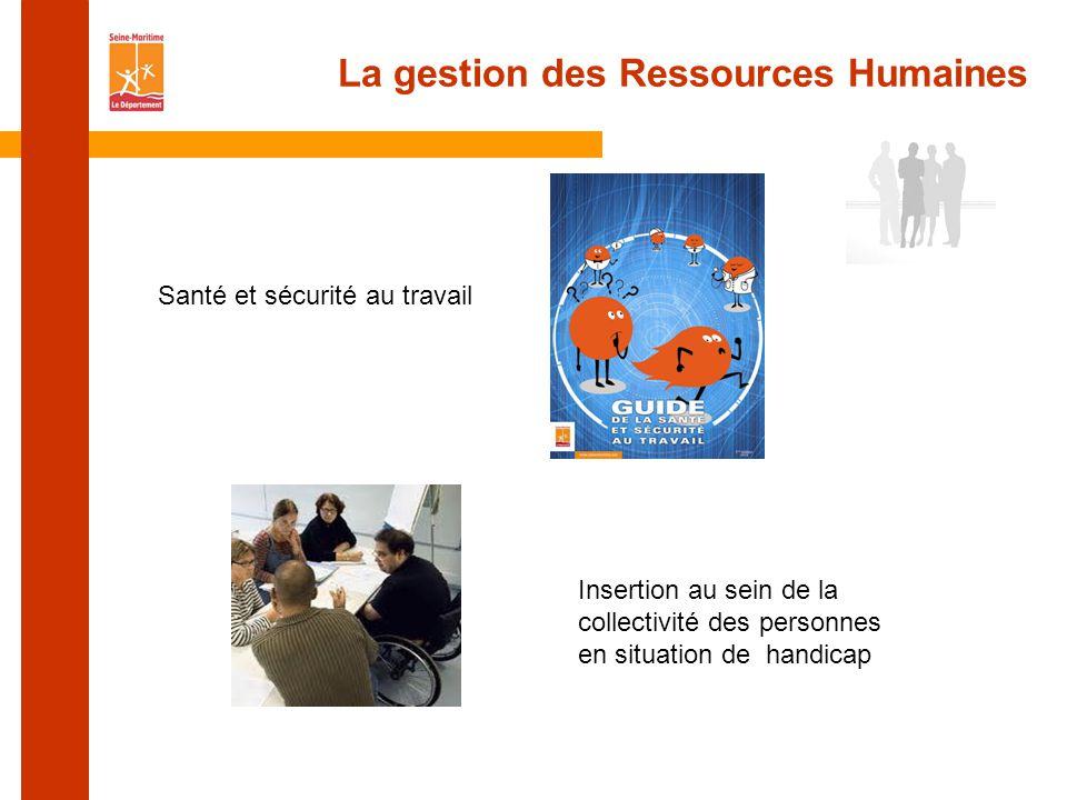 La gestion des Ressources Humaines Insertion au sein de la collectivité des personnes en situation de handicap Santé et sécurité au travail