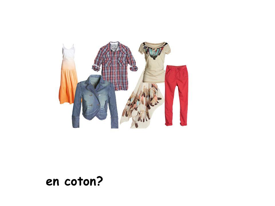 en coton?