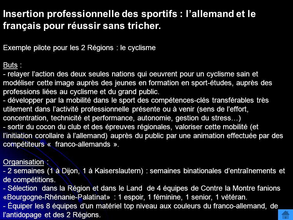 Insertion professionnelle des sportifs : l'allemand et le français pour réussir sans tricher.